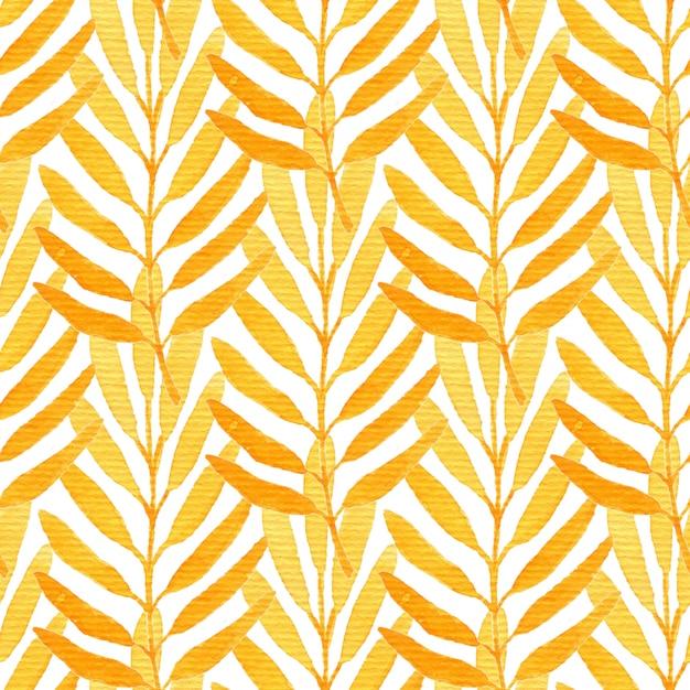 Aquarell orange nahtlose muster. Premium Fotos