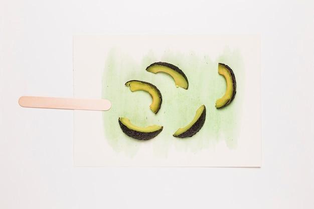 Aquarelleis mit avocado Kostenlose Fotos