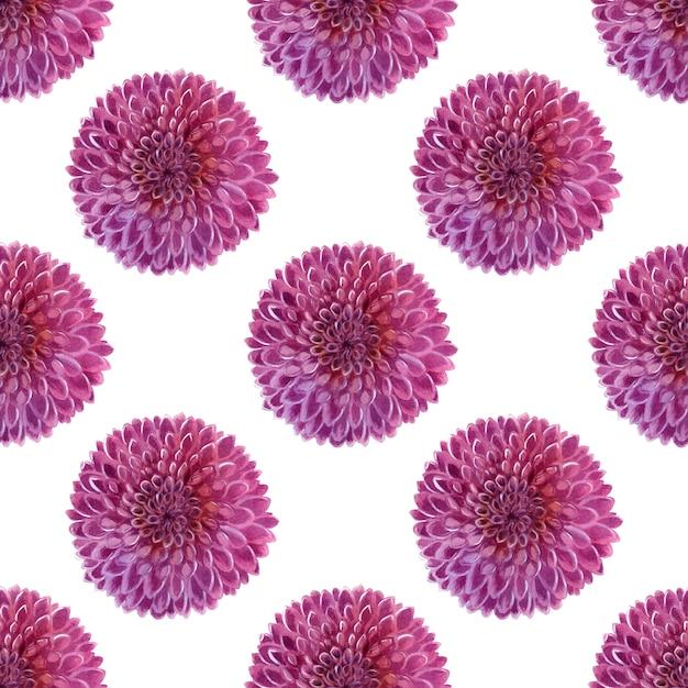 Aquarellhintergrund mit rosa dahlien Premium Fotos
