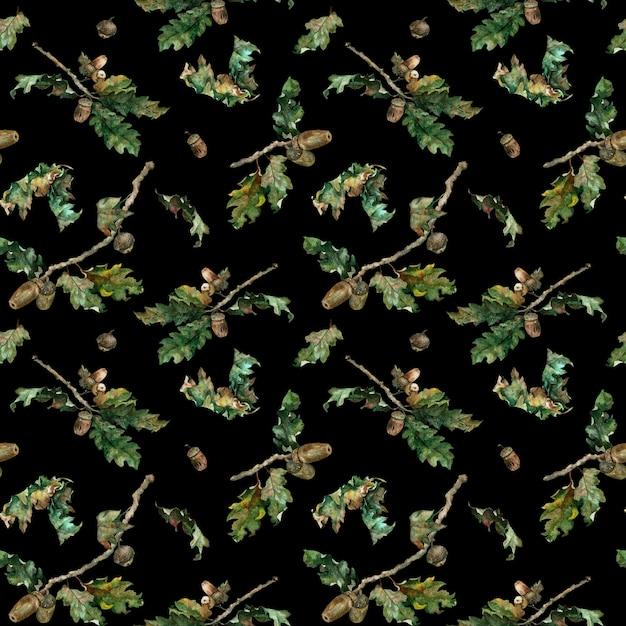 Aquarellillustration des herbstlaubmusters. Premium Fotos