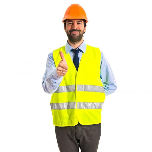 Arbeiter mit daumen nach oben Kostenlose Fotos