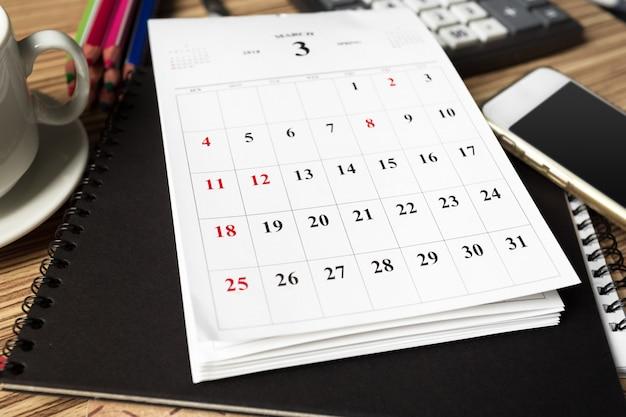 Arbeitsraum. kalender Premium Fotos
