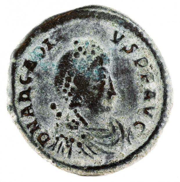 Arcadius roman coin Premium Fotos