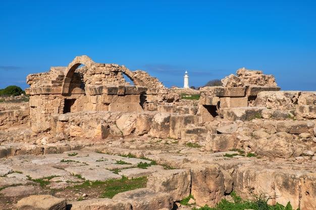 Archäologischer park paphos bei kato pafos in zypern Premium Fotos