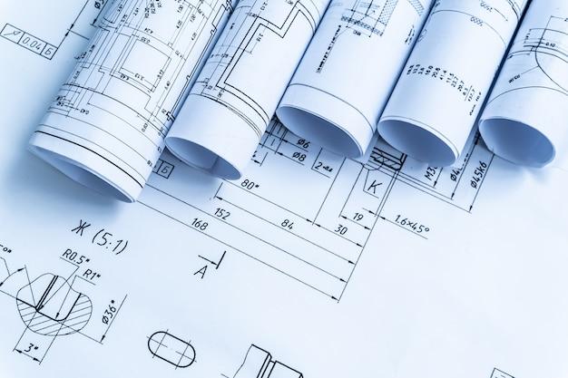 Architektonische projektdokumente Premium Fotos