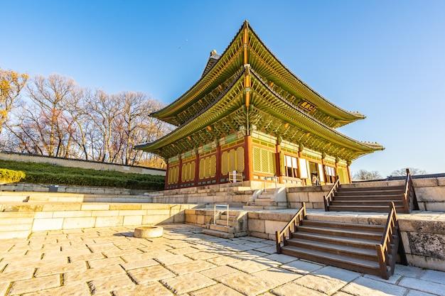 Architektur, die changdeokgungs-palast in seoul-stadt errichtet Kostenlose Fotos