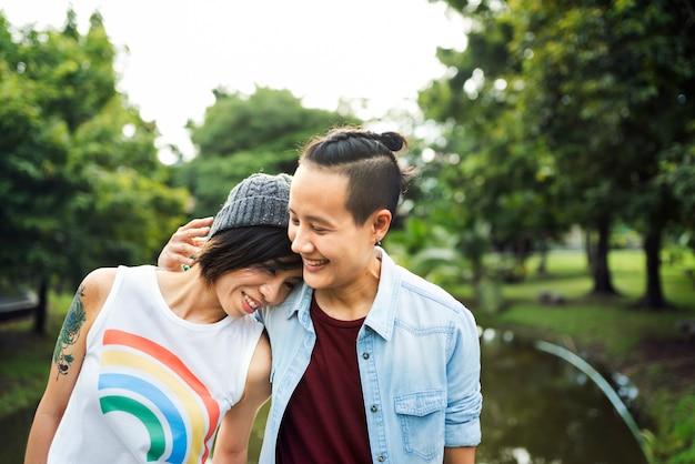 Asiatisches lesbisches paar lgbt Kostenlose Fotos