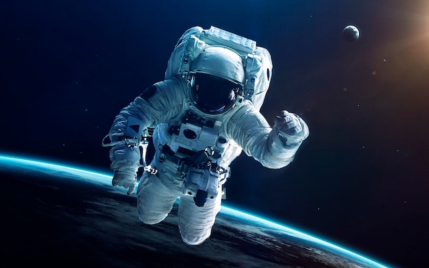 Astronaut im weltraum. Premium Fotos