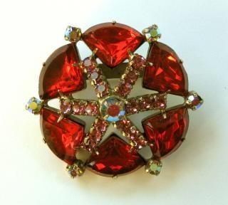 Atom-40s roten stern brosche Kostenlose Fotos