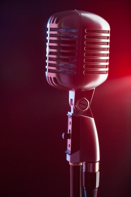 Audio mikrofon retro-stil Premium Fotos