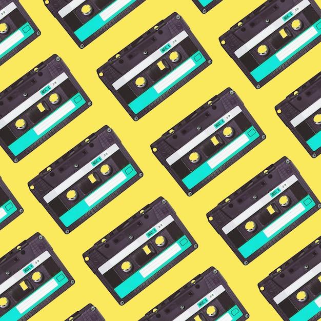 Audiokassettenmuster. Premium Fotos