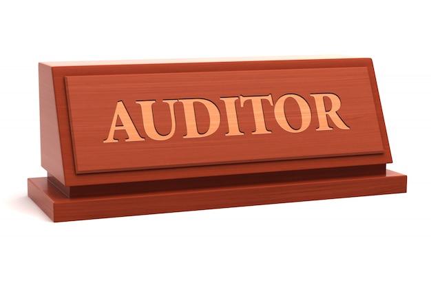 Auditor-berufsbezeichnung auf dem typenschild Premium Fotos