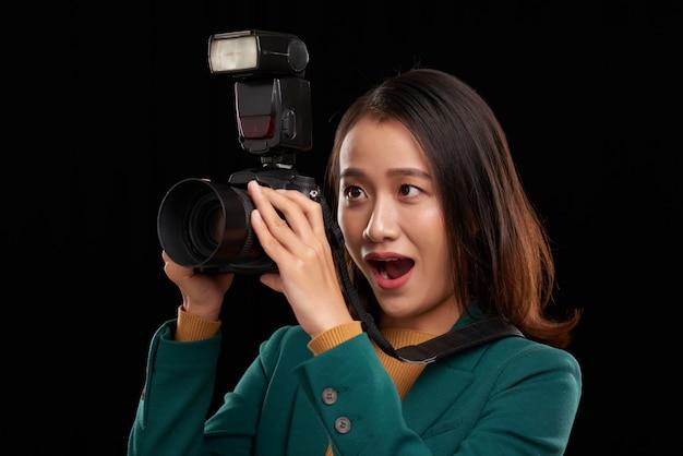 Aufgeregter fotograf Kostenlose Fotos