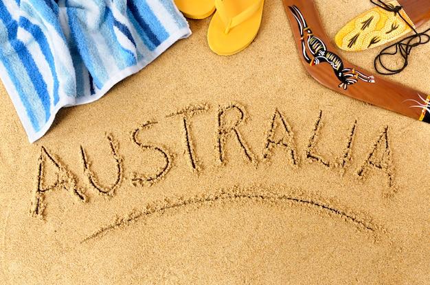 Australien strand hintergrund Premium Fotos
