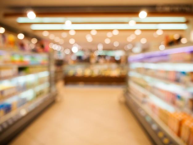Auszug unscharfer supermarkt Premium Fotos
