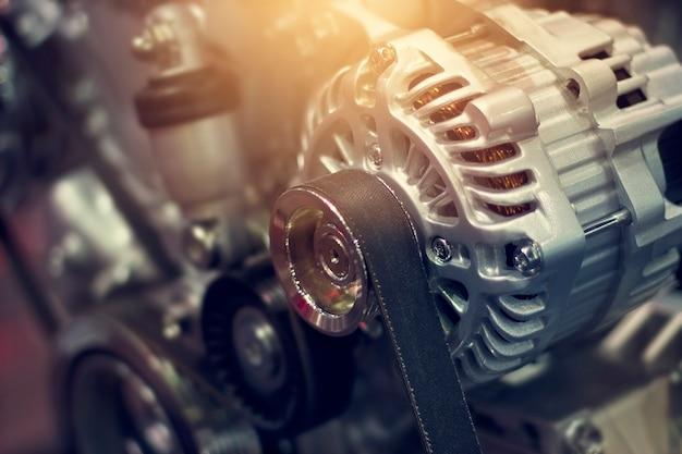 Automotor teil in beleuchtung Premium Fotos