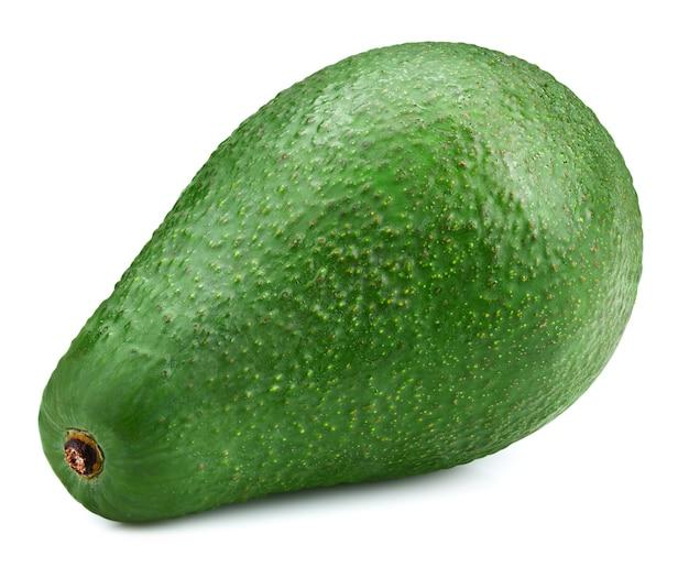 Avocado lokalisiert auf weißem hintergrund. reife grüne avocado, lokalisiert auf weißem hintergrund. avocado-beschneidungspfad Premium Fotos