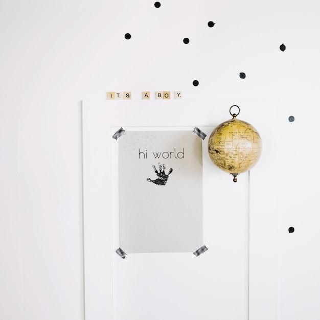 baby handabdruck auf papierblatt download der. Black Bedroom Furniture Sets. Home Design Ideas