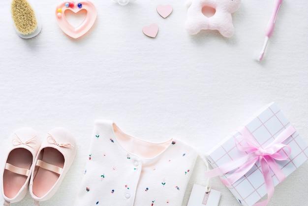 Babyparty für mädchenhintergrund Premium Fotos