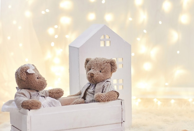 Babyspielzeug und spielzeughaus feiertagsdekor, kinder Premium Fotos