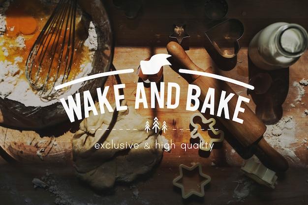 Backen sie bäckerei-backen-brot-frühstücks-kuchen-kulinarisches konzept Kostenlose Fotos