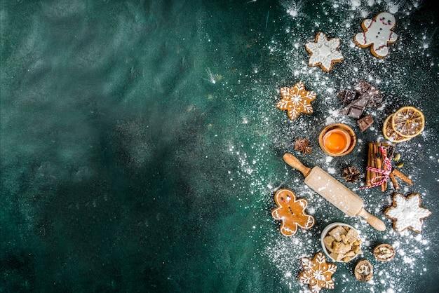 Backenhintergrund des weihnachten und des neuen jahres Premium Fotos