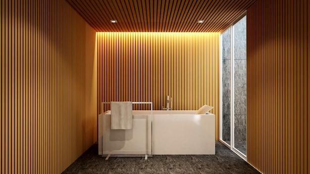 Bad und außenansicht für kunstwerke des hotels oder der wohnung, Premium Fotos