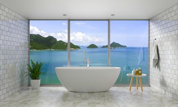 Badewanne im badezimmer Premium Fotos