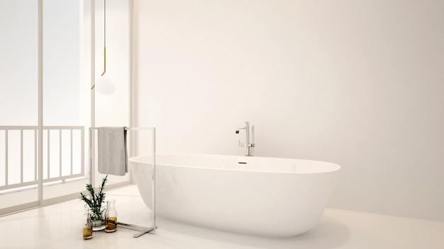 Badezimmer und balkon für kunstwerke des hotels oder der wohnung Premium Fotos