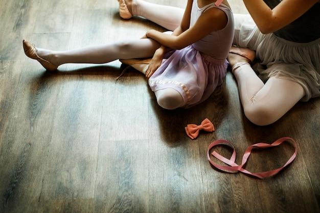 Ballett-tänzer training school-konzept Premium Fotos