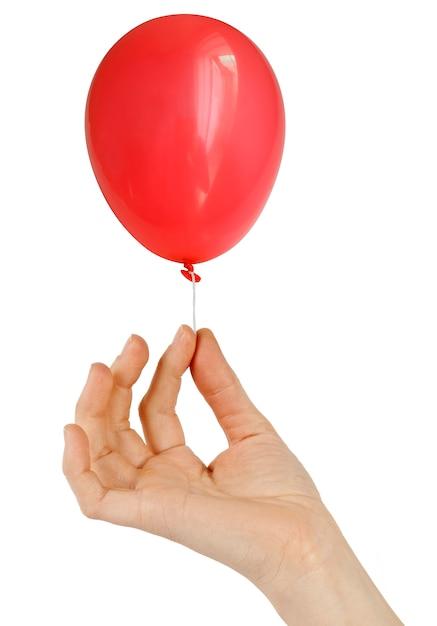 Ballon auf weiß isoliert Premium Fotos