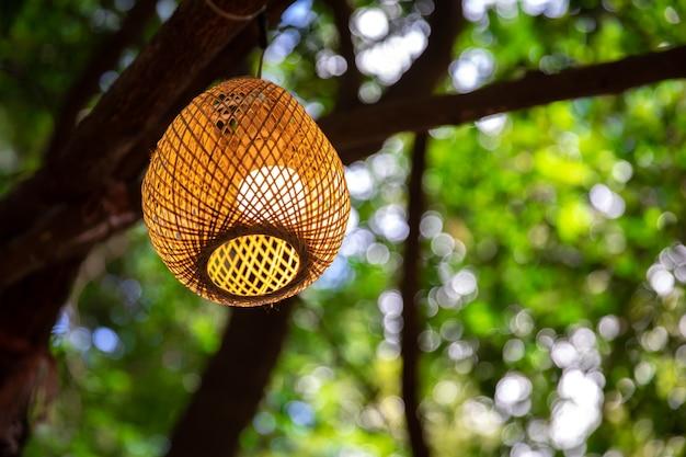 Bambuslaternen Die Nachts Bambuslaternen Weinleselaterne Hangen
