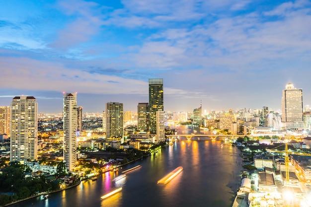 Bangkok stadt in der nacht Kostenlose Fotos