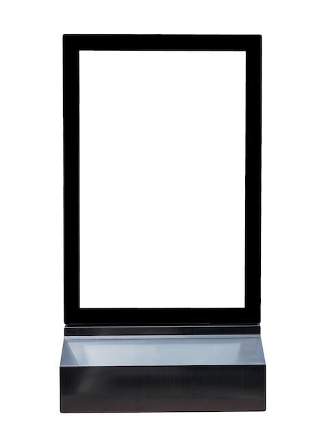 Base schwarze schilder quadrat aluminium werbung Premium Fotos