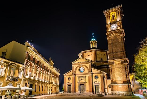 Basilica di san magno und palazzo municipale in legnano - italien Premium Fotos