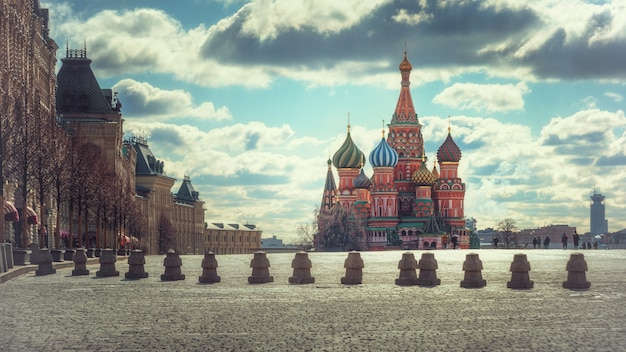 Basilius-kathedrale, am roten platz, moskau, russland Premium Fotos