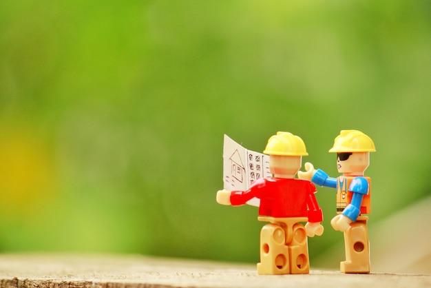 Baupläne lego dioramas Premium Fotos