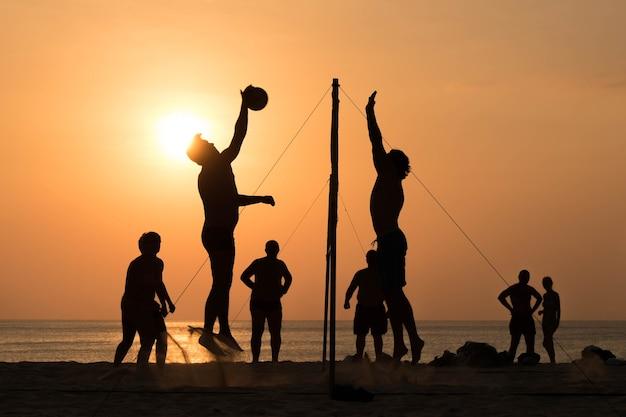 Beach-volleyball Premium Fotos