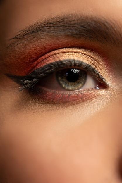 Beauty augen make-up Premium Fotos
