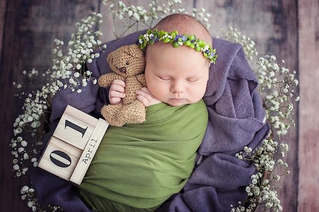 Beginn des lebens und glückliche märchenkindheit. Premium Fotos