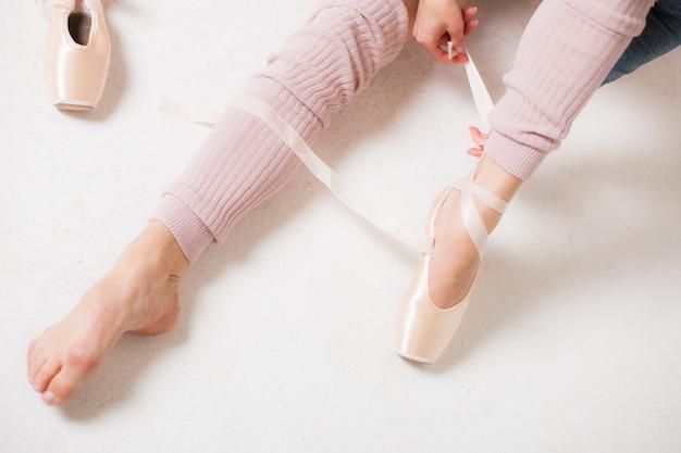 Füße tanzen ballerina. | Premium Foto