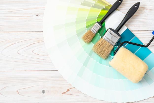 Beispielfarben katalog pantone oder farbfelder buch Premium Fotos