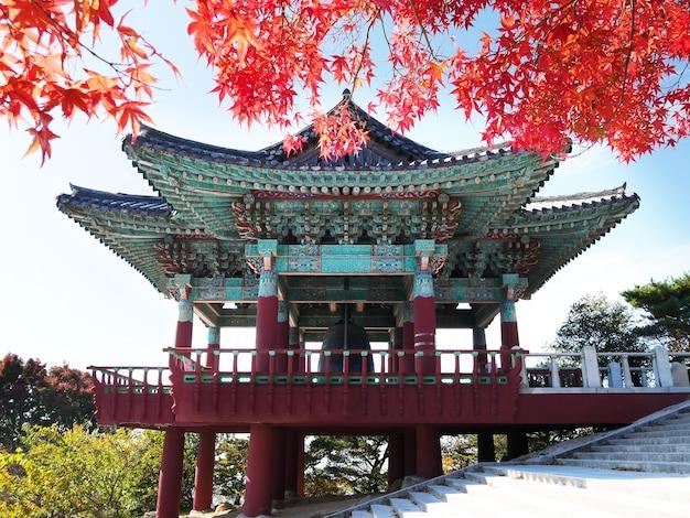 Bell-pavillon in seokguram-grotte in gyeongju, südkorea. Premium Fotos