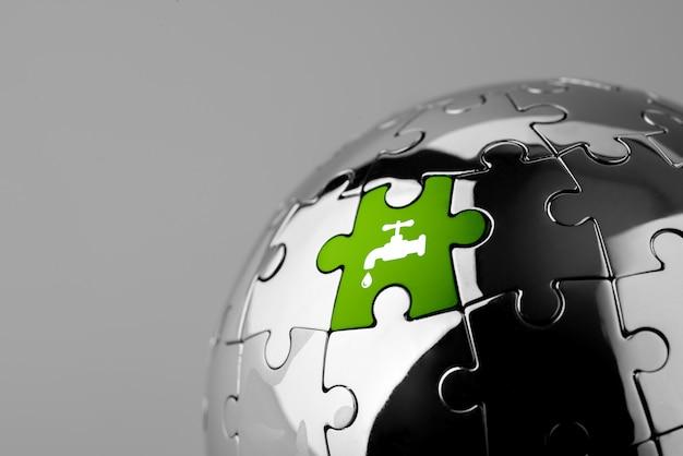 Bereiten sie ikone auf laubsäge für eco u. grüne welt auf Premium Fotos