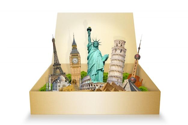 Berühmte denkmäler der welt Premium Fotos