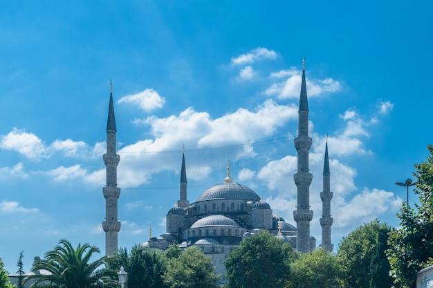 Berühmte moschee in der türkischen stadt von istanbul Premium Fotos