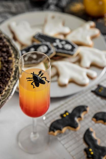 Besondere leckereien für halloween-party Kostenlose Fotos