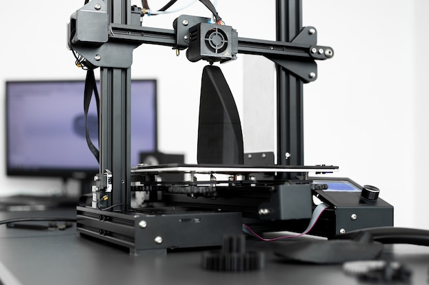 Betrieb der 3d-druckmaschine im labor Premium Fotos
