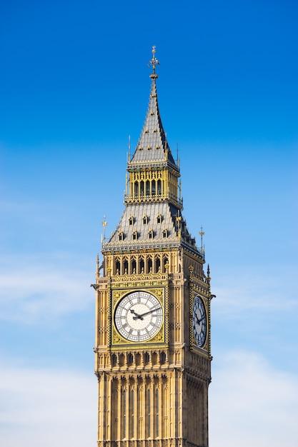 Big ben und westminster abbey, london, england Premium Fotos