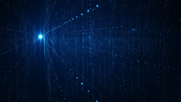 Big data-hintergrundkonzept der abstrakten technologie. Premium Fotos